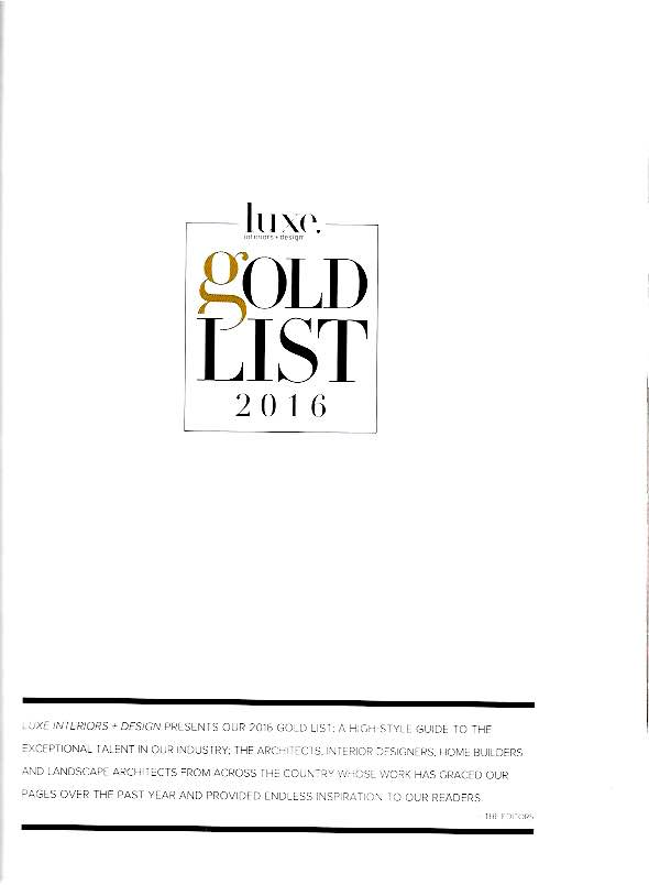 Luxe Gold List 2016