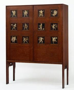 English Arts Crafts Cabinet
