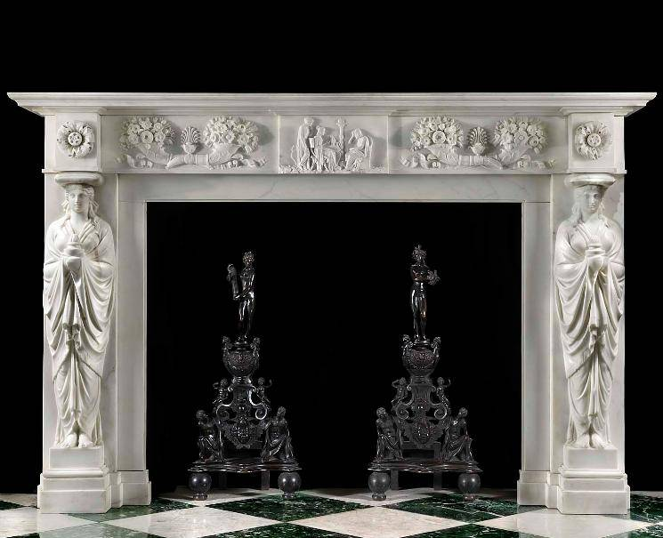 English Regency Classicism Fireplace Surround