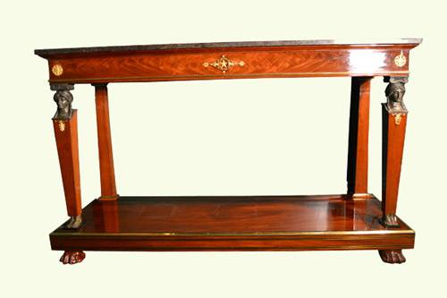 Empire Console Table - French Furniture Styles-Empire-1804-1815 - Knowledge Center