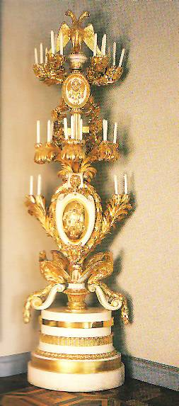 Russian gilded torchère Timothy Corrigan