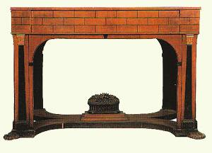 Russian Desk in natural, carved ebonized wood, c.1815 Timothy Corrigan
