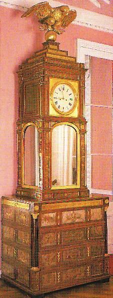 Russian Glong-case clock, Heinrich Gambs, Timothy Corrigan