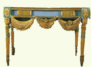 A Russian console table in carved and gilded wood, 1790 Timothy Corrigan