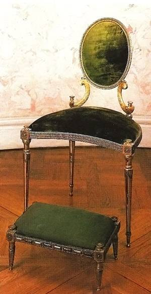 Russian Chair from Tula in polished and faceted steel and gilt bronze, Timothy Corrigan