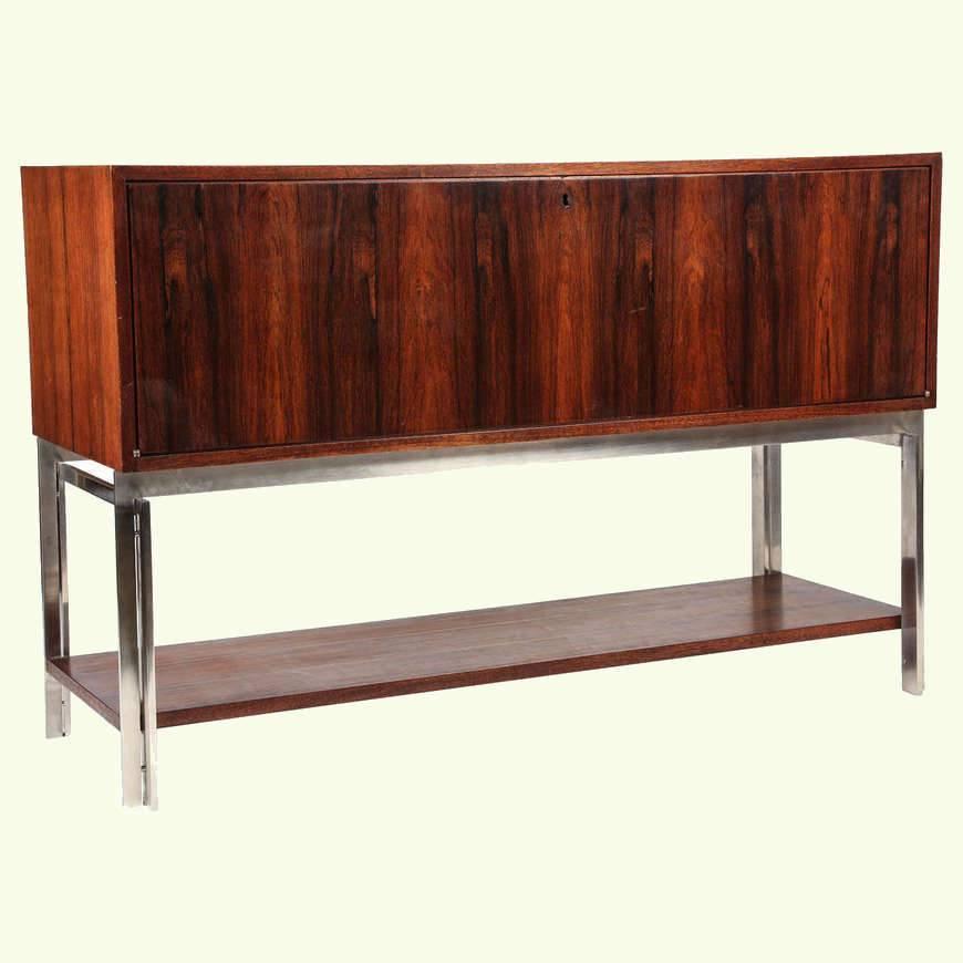 mid century palisander wood sideboard. Black Bedroom Furniture Sets. Home Design Ideas