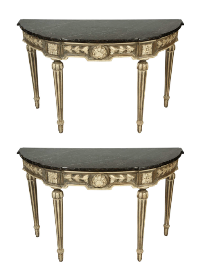 louis xvi console black wth soot how to clean