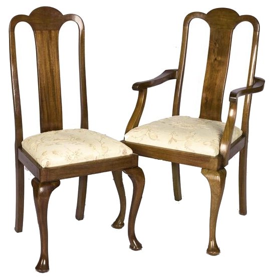 Prime Set Of Six Queen Anne Style Oak Dining Chairs Dailytribune Chair Design For Home Dailytribuneorg