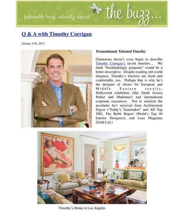 The Buzz Blog Timothy Corrigan