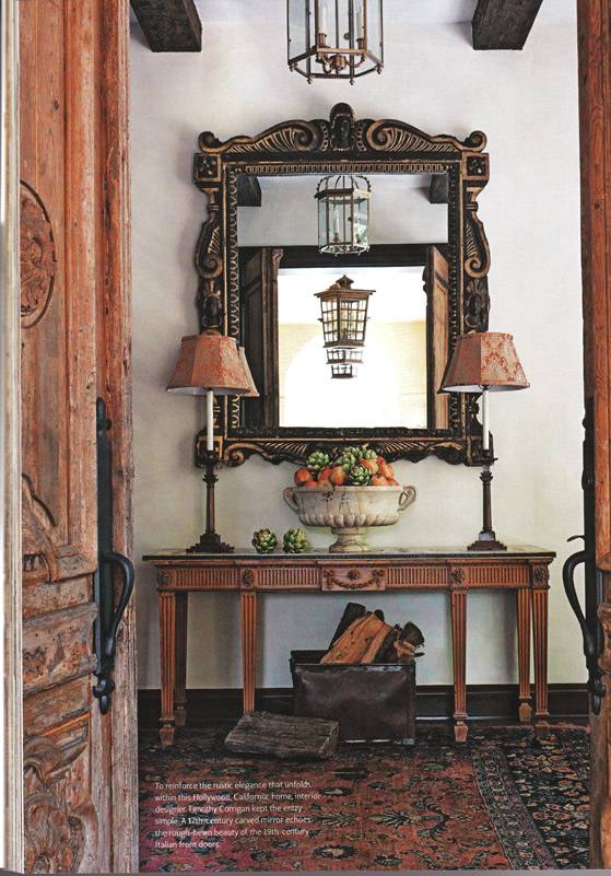 Foyer Interior Urn : Press interior design news tuscan style january