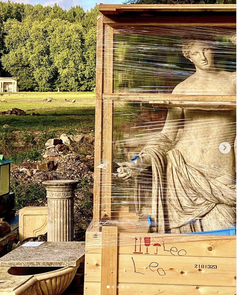 statues chateau de la chevallerie