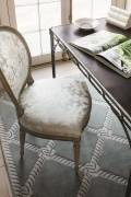 52056 - shown below a chair in Chateau Silk Damask